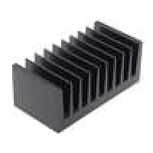 Chladič lisovaný žebrovaný černá L:50mm W:100mm H:40mm