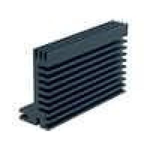 Chladič lisovaný TO220,TOP3 černá L:84mm W:55mm H:28mm