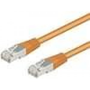 Síťový kabel F/UTP 5e propojení 1:1 licna CCA PVC oranžová 20m