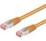 Síťový kabel S/FTP 6a propojení 1:1 licna Cu LSZH oranžová