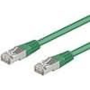 Síťový kabel SF/UTP 5e propojení 1:1 licna CCA PVC   0,5m