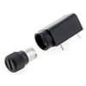 Pouzdro trubičkové pojistky do PCB 5x20mm -40-85°C 6,3A