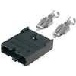 Pouzdro automobilové pojistky 19mm Montáž axiální, na kabel