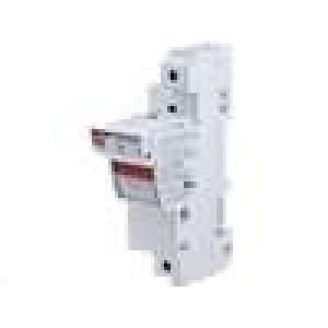 Pouzdro trubičkové pojistky 22x58mm na DIN lištu 125A 690V