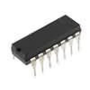 TLC274CN Operační zesilovač 1,8MHz 3-16VDC Kanály:4 DIP14