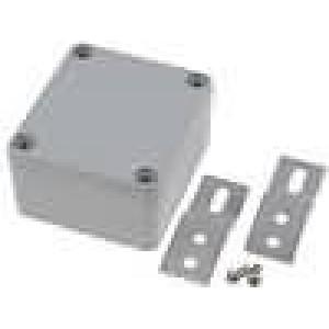 Krabička univerzální X:58mm Y:64mm Z:35mm hliník šedá IP65