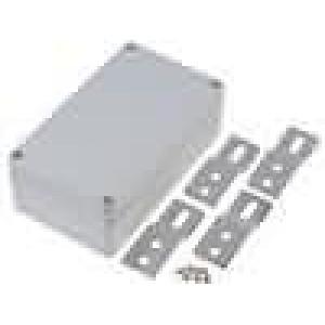Krabička univerzální X:64mm Y:110mm Z:37mm hliník šedá IP65