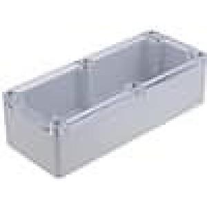 Krabička univerzální X:80mm Y:195mm Z:55mm polykarbonát šedá