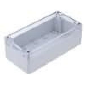 Krabička univerzální X:80mm Y:160mm Z:55mm polykarbonát šedá