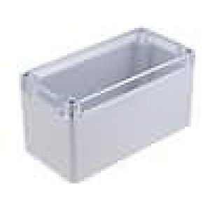 Krabička univerzální X:80mm Y:160mm Z:85mm polykarbonát šedá