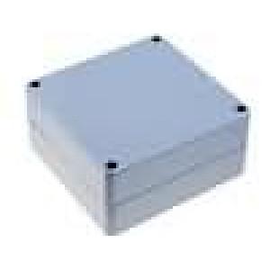 Krabička univerzální X:120mm Y:120mm Z:60mm polykarbonát šedá