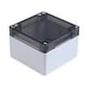 Krabička univerzální 1554 X:90mm Y:90mm Z:60mm polykarbonát šedá