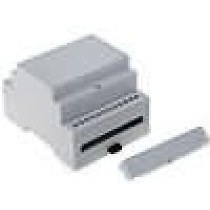 Kryt na přípojnici DIN MODULBOX W:71mm H:90mm D:58mm noryl