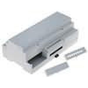 Kryt na přípojnici DIN MODULBOX W:160mm H:90mm D:58mm noryl