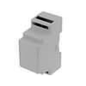 Kryt na přípojnici DIN X:35mm Y:88mm Z:59mm ABS šedá