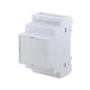 Kryt na přípojnici DIN X:52,5mm Y:90mm Z:65mm ABS šedá