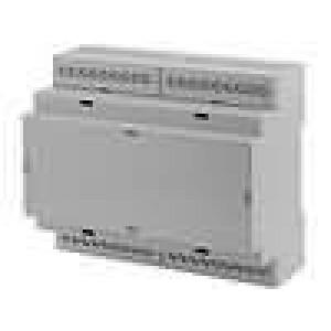 Kryt na přípojnici DIN X:106,25mm Y:90,2mm Z:57,8mm ABS šedá