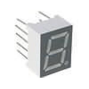 LED display jednomístný 7-segmentový 9,9mm   anoda