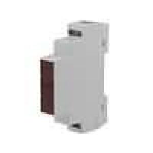 Kryt na přípojnici DIN X:17,5mm Y:90mm Z:65mm ABS šedá