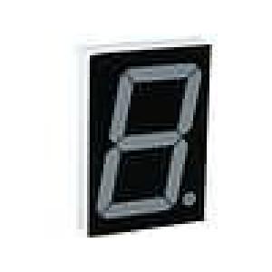 LED display jednomístný 7-segmentový 57mm   44mcd