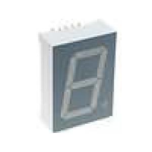 LED display jednomístný 7-segmentový 25,4mm   katoda