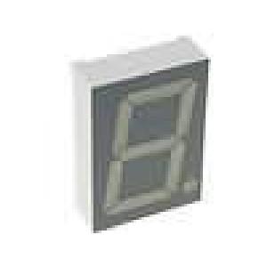 LED display jednomístný 7-segmentový 38,1mm   katoda