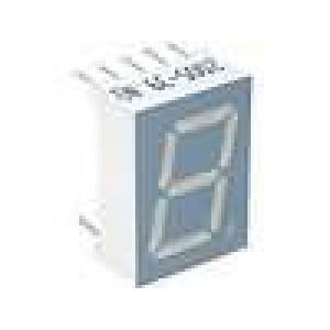LED display jednomístný 7-segmentový 13,2mm   katoda