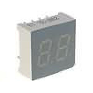 LED display dvoumístný 7-segmentový 7,6mm   katoda