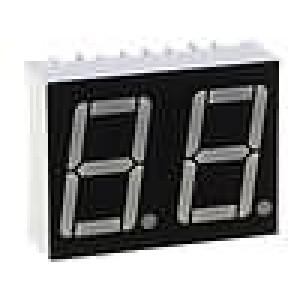 LED display dvoumístný 7-segmentový 14,2mm   anoda
