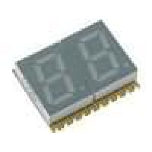 LED display SMD dvoumístný 7-segmentový 7,62mm