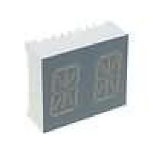 LED display alfanumerický dvoumístný 13,8mm   3-8mcd