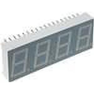 LED display čtyřmístný 7-segmentový 14mm   3-10,5mcd