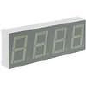 LED display čtyřmístný 7-segmentový 14,2mm   anoda