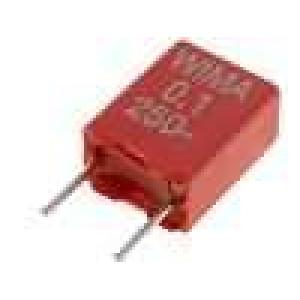 Kondenzátor polyesterový 100nF 160VAC 250VDC rozteč 5mm