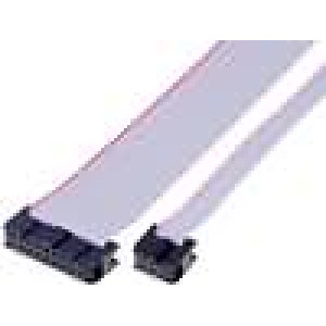 Plochý kabel s konektory IDC 10x28AWG R.pásu:1,27mm 0,3m