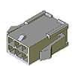 Zástrčka kabel-pl.spoj vidlice 3mm 12PIN řada Micro-Fit 3.0