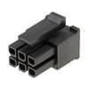 Zástrčka kabel-pl.spoj zásuvka 3mm 6 PINbez kontaktů 5A