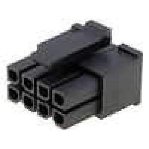 Zástrčka kabel-pl.spoj zásuvka 3mm 8 PIN bez kontaktů 5A