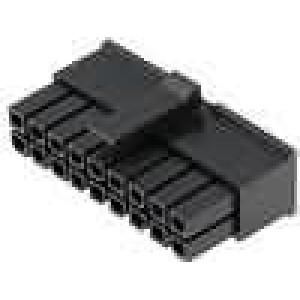 Zástrčka kabel-pl.spoj zásuvka 3mm 18 PIN bez kontaktů 5A