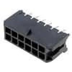 Zásuvka kabel-pl.spoj vidlice 3mm 12PIN pocínovaný 5A 250V
