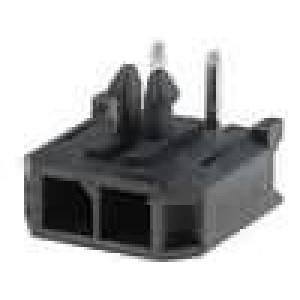 Zásuvka kabel-pl.spoj vidlice 3mm 2PIN pocínovaný 5A THT
