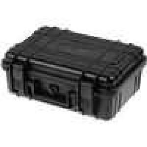 Zásobník - přepravní kufřík 260x180x100mm černá ABS