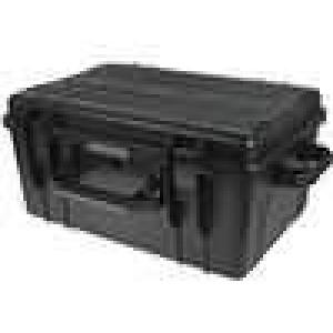 Zásobník - přepravní kufřík 580x400x280mm černá ABS