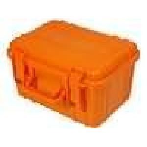 Zásobník - přepravní kufřík 260x180x150mm oranžová ABS
