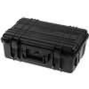 Zásobník - přepravní kufřík 330x210x120mm černá ABS