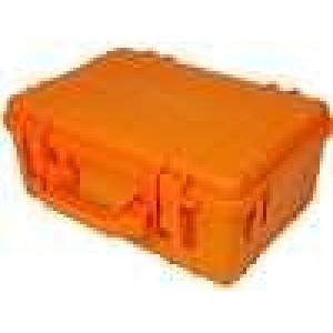 Zásobník - přepravní kufřík 380x260x160mm oranžová ABS