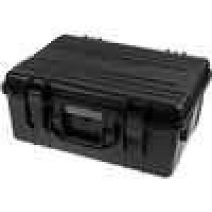 Zásobník - přepravní kufřík 470x350x200mm černá ABS
