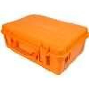 Zásobník - přepravní kufřík 580x400x210mm oranžová ABS