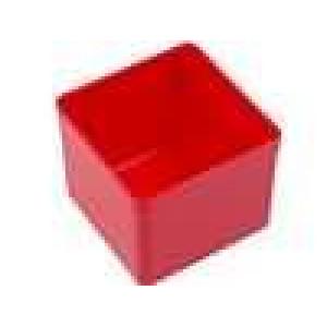 Zásobník - do krabiček 54x54x45mm červená polystyrén