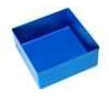 Zásobník - do krabiček 108x108x45mm modrá polystyrén